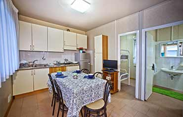 Camping Lilly Pineta has Bungalows for 2,4,5 and 6 people in Marina di Massa