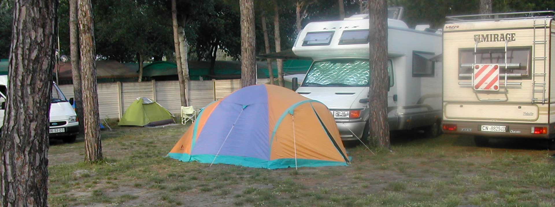 The Camping has pitches for tent and caravans