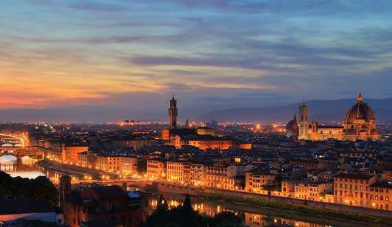 Firenze is 120 km far from the Camping